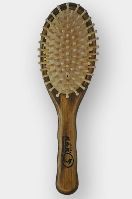 برس مو تخت چوبی دانه چوبی با سر متوسط