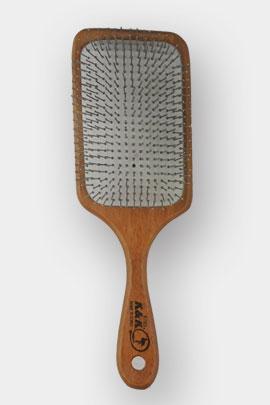 برس مو تخت چوبی مربع دانه سیمی با سر بزرگ