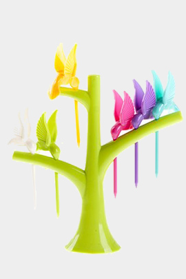 چنگال میوه و زیتون پرنده